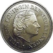 2½ gulden - Juliana -  avers