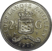 2½ gulden - Juliana -  revers