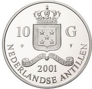 10 Gulden - Beatrix / Gold Trade Coins: Clovis I Tremissisfiorino d'oro – avers