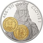 10 Gulden - Beatrix / Gold Trade Coins: Clovis I Tremissisfiorino d'oro – revers