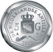 5 gulden - Willem-Alexander (150e anniversaire de l'abolition de l'esclavage) – avers