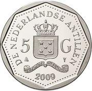 5 gulden - Beatrix (Centenaire d'Antoine Maduro) – avers