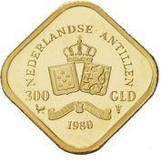 300 gulden - Juliana (Abdication) – revers