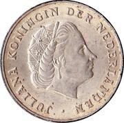 1 gulden - Juliana – avers