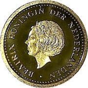 10 gulden - Beatrix (Année du dauphin) – avers