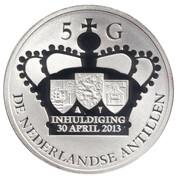 5 gulden - Willem-Alexander (Accession au trône) – revers