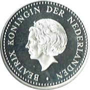 5 Gulden - Beatrix (Silver Jubilee) – avers