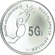 5 Gulden - Beatrix (Silver Jubilee) – revers