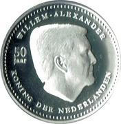 5 Gulden - Willem-Alexander 50th birthday – avers