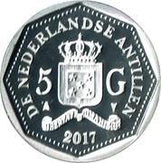 5 Gulden - Willem-Alexander 50th birthday – revers