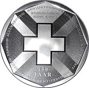 5 Gulden - 150 year Red Cross – revers