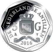 5 Gulden - George Maduro – revers