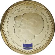 5 gulden - Willem-Alexander/Beatrix (Drapeau de Curaçao) – avers