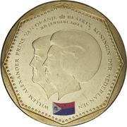 5 gulden - Willem-Alexander / Beatrix (Drapeau de Saint-Martin) – avers