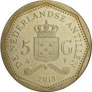 5 gulden - Willem-Alexander / Beatrix (Drapeau de Saint-Martin) – revers