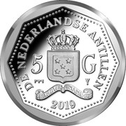 5 Gulden - 65 years Heritage Foundation – revers