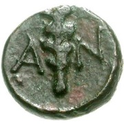 Bronze Æ8 (Antissa) – revers