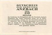 20 Heller (Anzbach) – revers