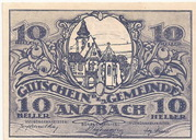 10 Heller (Anzbach) – avers
