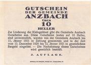 10 Heller (Anzbach) – revers