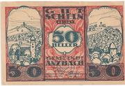 50 Heller (Anzbach) – avers