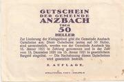 50 Heller (Anzbach) – revers