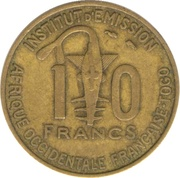 10 francs Togo -  revers