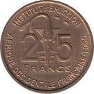 25 francs Togo – avers