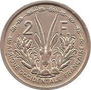 2 francs (Essai) – revers
