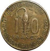 10 francs Togo – avers