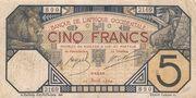 5 Francs Dakar – avers