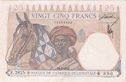 25 francs AOF – avers