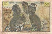 50 francs AOF et Togo -  avers