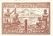 French West Africa 1944 1 Franc -  avers