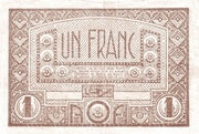 French West Africa 1944 1 Franc -  revers