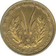 10 francs Togo – revers