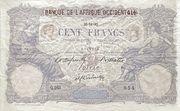 100 Francs (Dakar) – avers