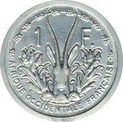 1 franc (Piéfort essai) – revers