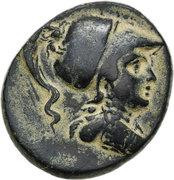 Bronze AE24 (Athena/Eagle) – avers