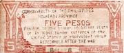 5 Pesos (Apayao) – revers