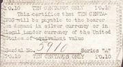 10 Centavos (emergency Script of – revers