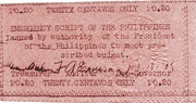20 Centavos (Emergency Script of the Philippines) – avers