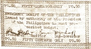 50 Centavos (Emergency Script of the Philippines) – avers