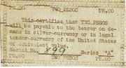 2 Pesos (Emergency Script of the Philippines) – revers