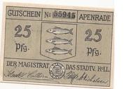 25 Pfennig (Apenrade) – avers