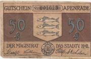 50 Pfennig (Apenrade) – avers