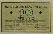 10 Pfennig (Apolda) – avers