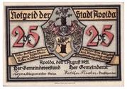 25 Pfennig (Apolda) – avers