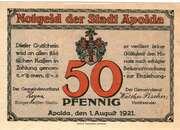 50 Pfennig (Apolda) – avers