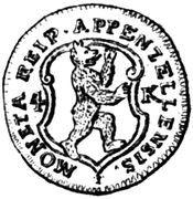 4 Kreuzer – avers